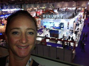 Kirsty at The World Travel Market, London, 2013