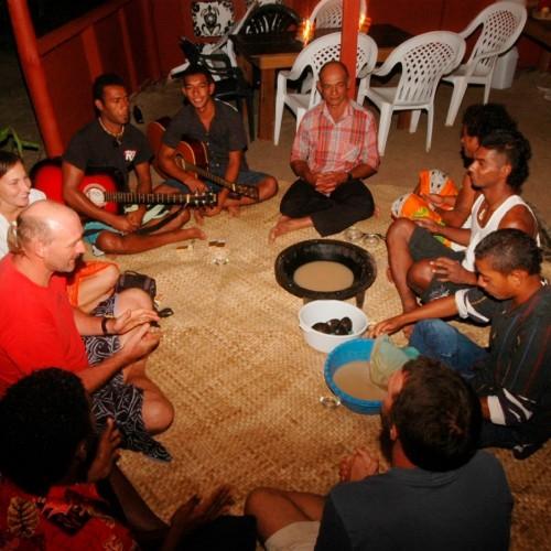 Cultural traditions. Drinking kava, Island Spirit, Fiji.