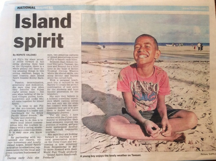 Island Spirit article 13 Aug 2016