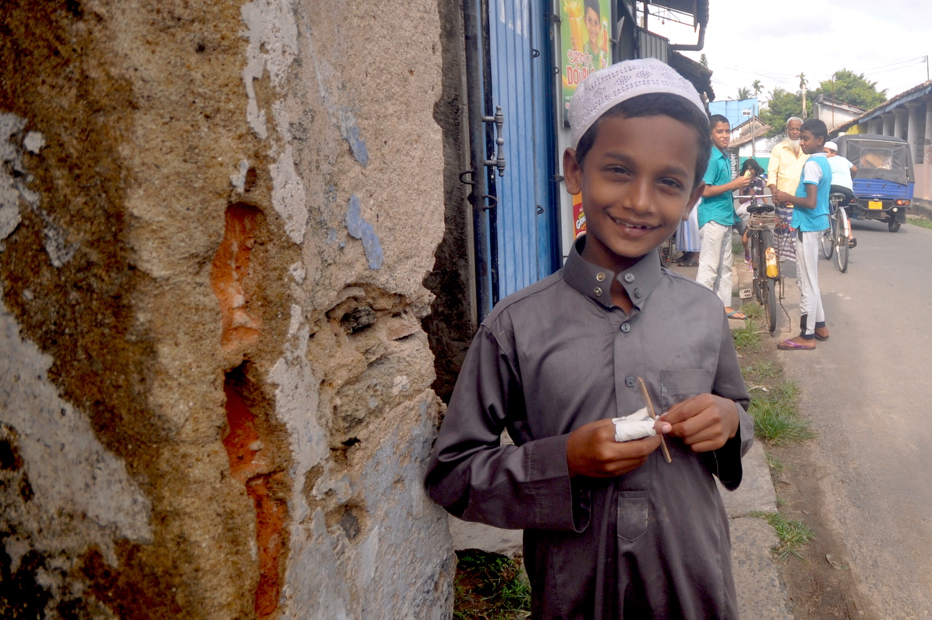 A young Muslim boy in Weligama, Sri Lanka