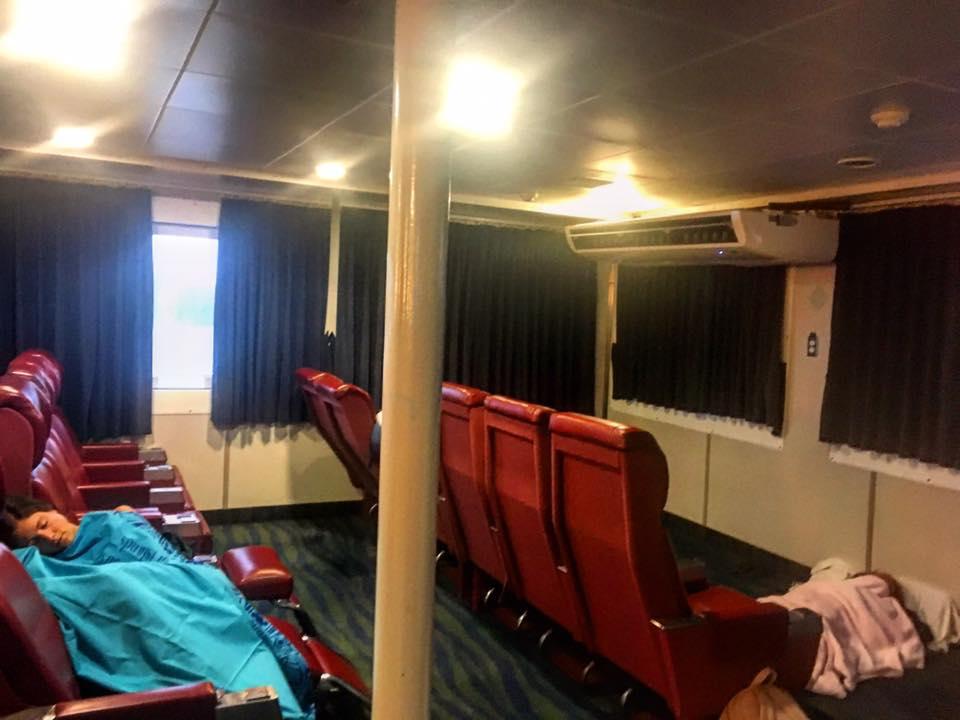 Sleeping beauties, Lomaviti Princess Ferry to Taveuni, Fiji