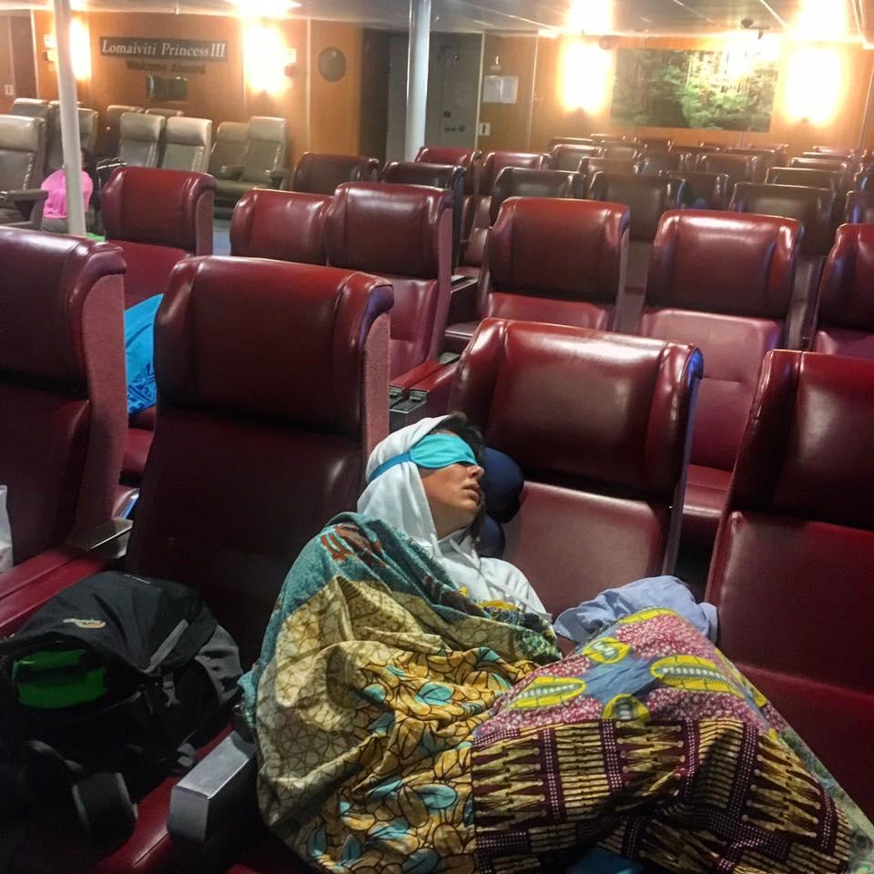 Sleeping Annie, Lomaviti Princess Ferry to Taveuni, Fiji