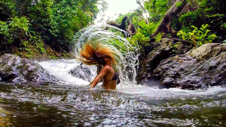 Taveuni Natural Waterslides, Waterfall, Fiji
