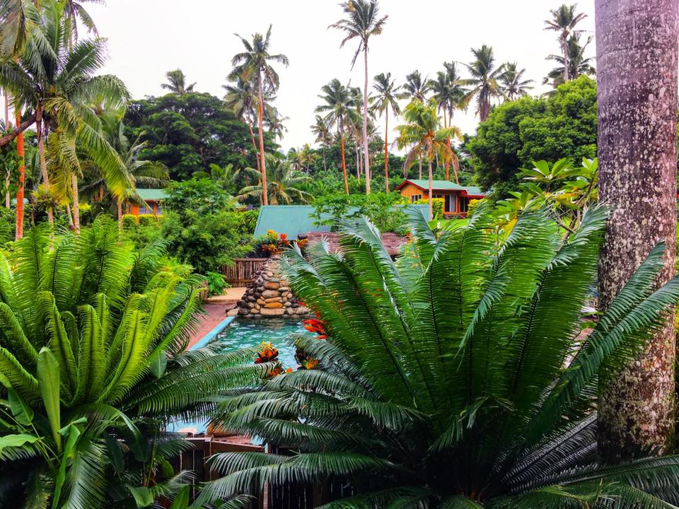 Maravu Backpackers Resort, Pool, Taveuni, Fiji. Sustainable Tourism