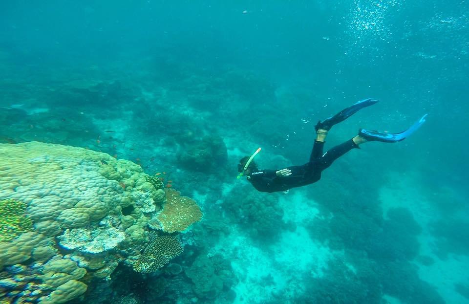 Laura freediving snorkeling Taveuni Fiji
