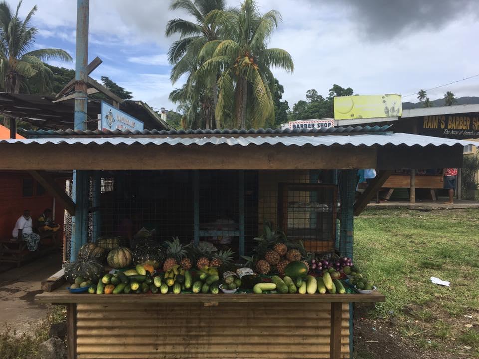 Fresh fruit stall, Taveuni, Fiji