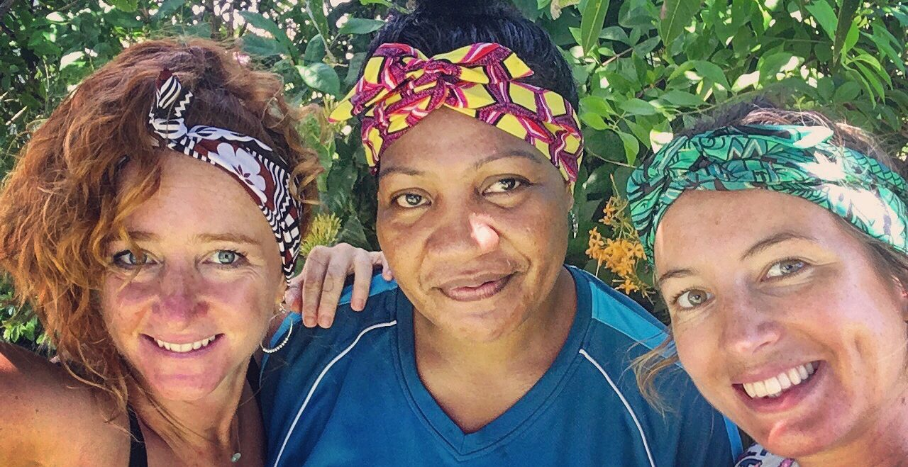 Fijian printed headbands created by local artisans in Fiji