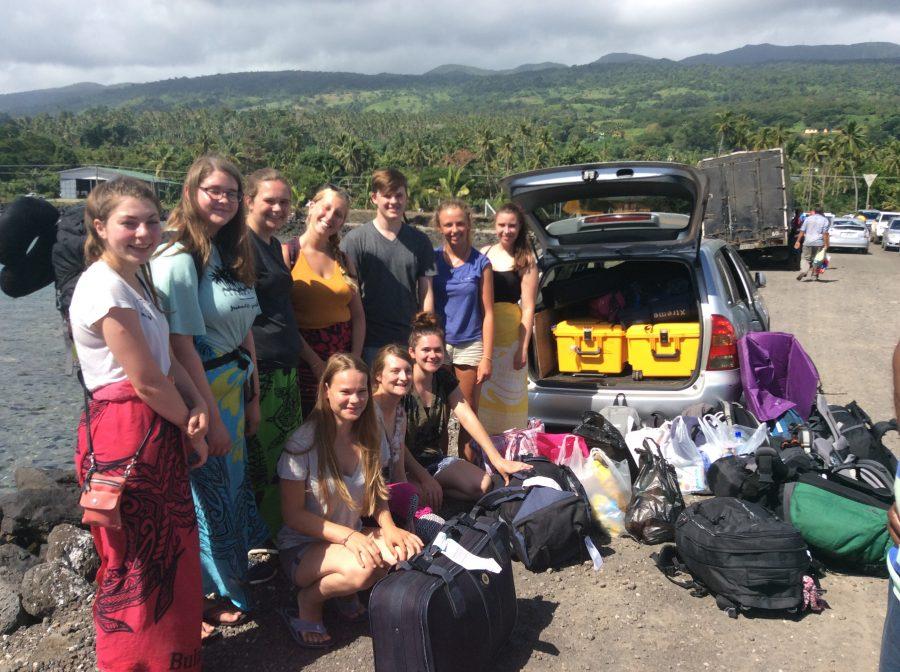 Volunteers arriving on Taveuni, Fiji