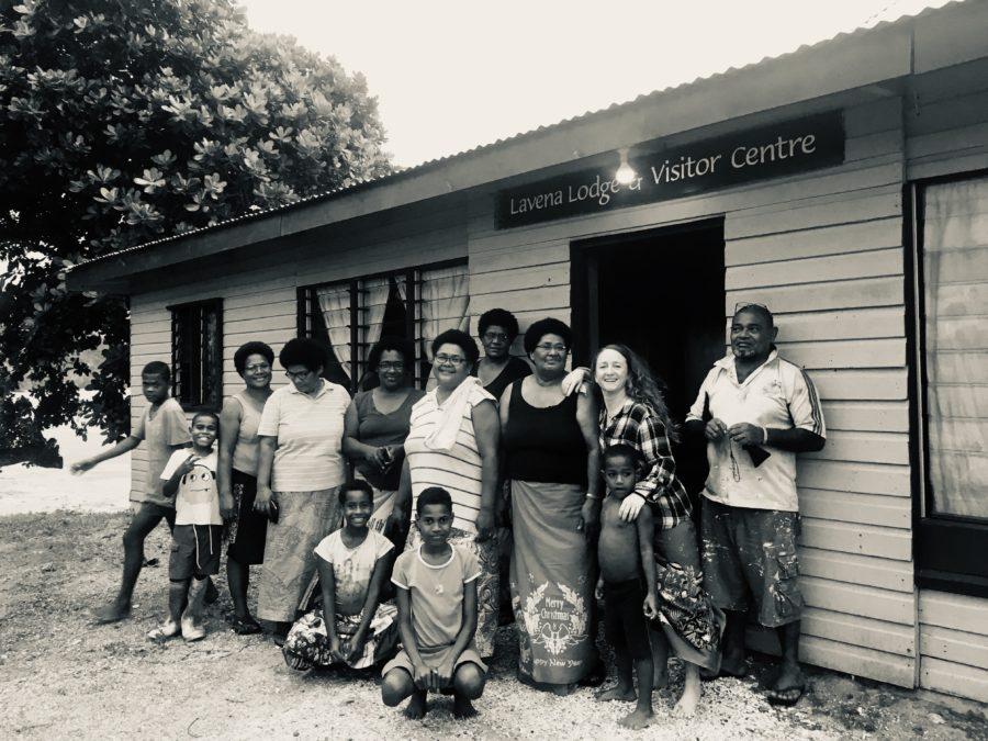 Donating reading glasses in Lavena Island Spirit Fiji