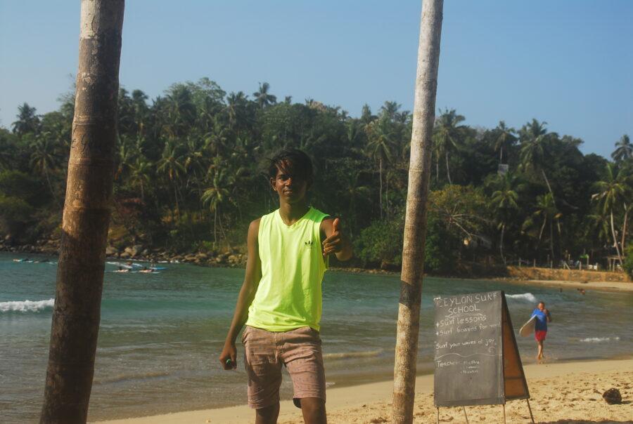 Surfer Hirikitiya Beach Sri Lanka Island Spirit.2