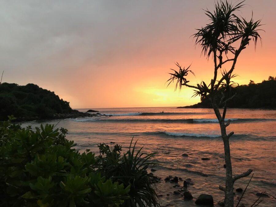 Sunset the point Hiriketiya Sri Lanka