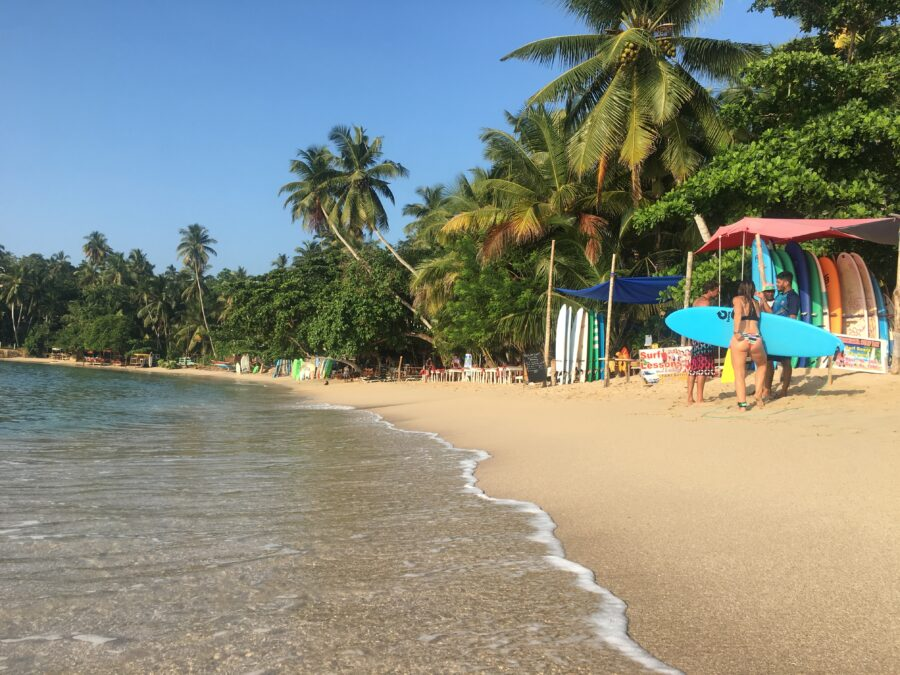 Beach Hiriketiya Sri Lanka