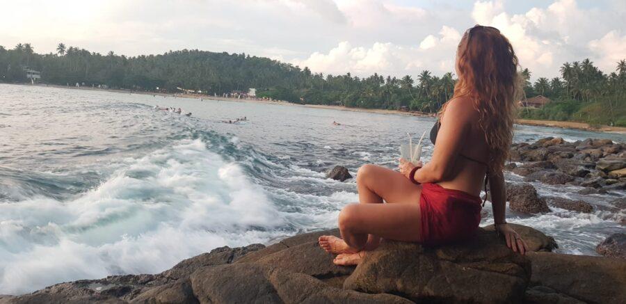 The Point Sunset Hiriketiya Sri Lanka