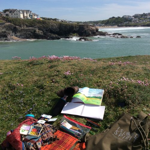 Responsible tourism project in South West Coastal Path Sketching